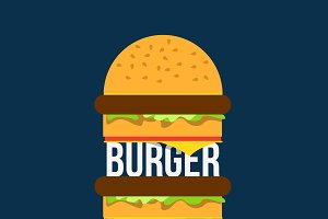 Burger bar print design
