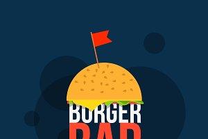 Burger bar flyer illustration