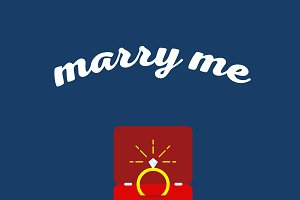 Marry me greeting card