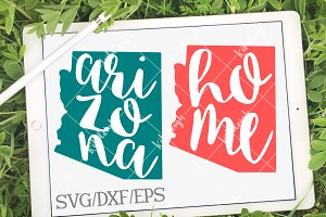 Arizona Home Name DXF, SVG, EPS