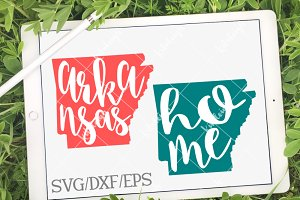 Arkansas Home Name- DXF, SVG, EPS