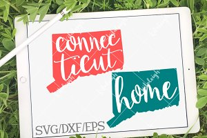 Connecticut Home Name- DXF, SVG, EPS
