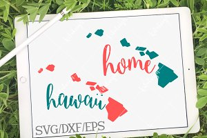 Hawaii Home Name-DXF, SVG, EPS