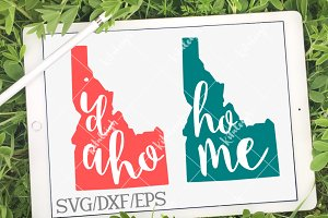 Idaho Home Name- DXF, SVG, EPS