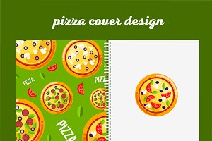 Pizza menu cover design