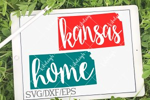 Kansas Home Name-DXF, SVG, EPS