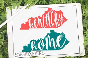 Kentucky Home Name- DXF, SVG, EPS