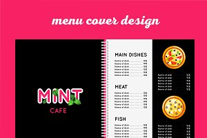 Cafe menu template