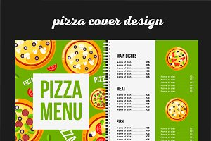 Pizza cafe menu template