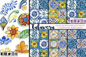 Talavera mexican clip art + DP