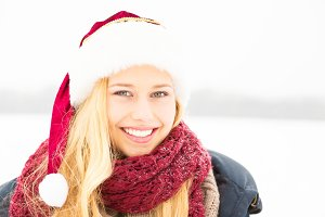 Young Woman Enjoying Winter