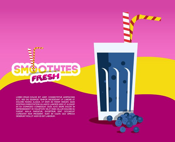 Blueberry Smoothies Illustration