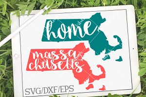 Massachusetts HomeName DXF, SVG, EPS