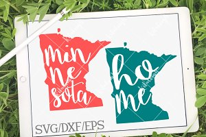 Minnesota Home Name DXF, SVG, EPS