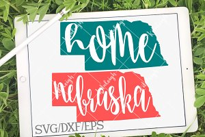 Nebraska Home Name DXF, SVG, EPS
