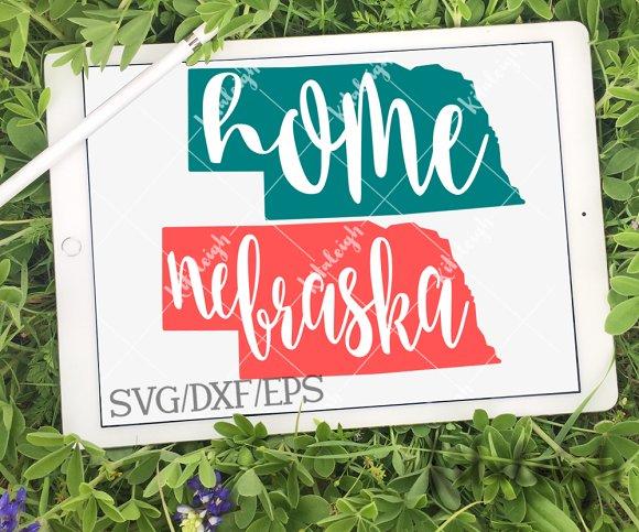 Nebraska Home Name DXF SVG EPS