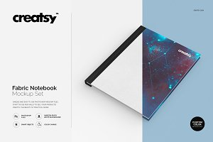 Fabric Notebook Mockup Set