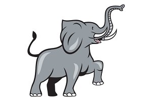 Elephant Marching Prancing Cartoon