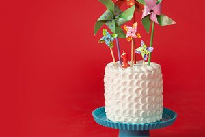 Summer Cake with Pinwheels