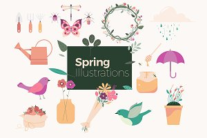 Spring Illustrations