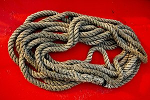 rope to moor the boat