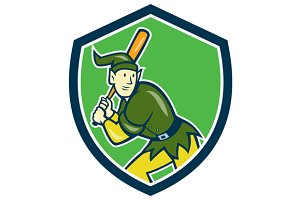 Elf Baseball Player Batting Shield C