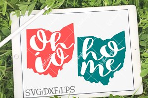 Ohio Home Name- DXF, SVG, EPS