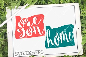 Oregon Home Name- DXF, SVG, EPS