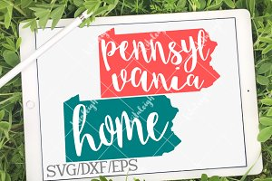 Pennsylvania Home Name DXF, SVG, EPS
