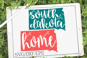 South Dakota Home Name DXF, SVG, EPS