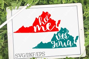 Virginia Home Name- DXF, SVG, EPS
