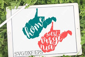 West Virginia Home Name DXF SVG EPS