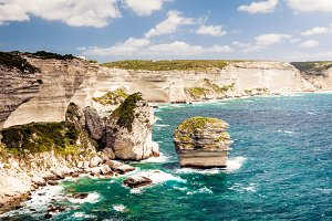 Corsican Landscape with Sea and Coastline, near Bonifacio