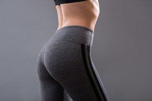 female buttocks of fitness girl