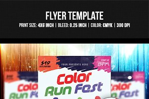 Color Run Fest Flyer