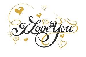 Love You, Lettering Design