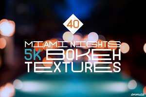 Miami Nights 5K Bokeh Textures