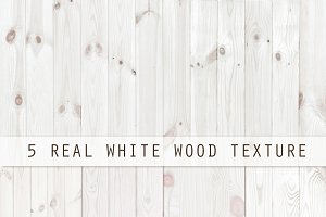 5 real white wood texture