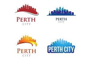 4 - Perth Skyline Landscape Logo