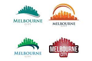 4 - Melbourne Skyline Landscape Logo