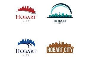 4 - Hobart Skyline Landscape Logo