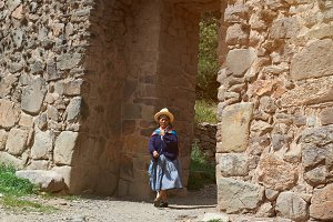 Traditional peruvian woman