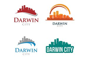 4 - Darwin Skyline Landscape Logo
