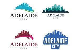 4 - Adelaide Skyline Landscape Logo