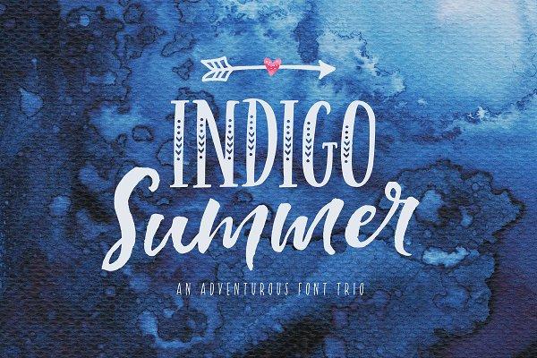 Indigo Summer Font Trio
