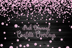 Pink Diamond Confetti Clipart