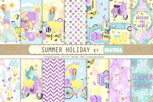 SUMMER HOLIDAY digital papers