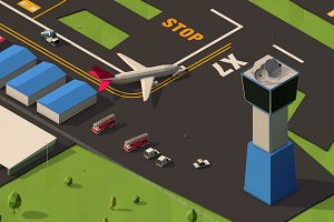 Low Poly Airport Pack