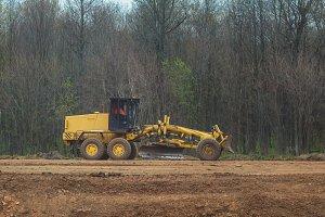 Road scraper - grader - highway construction - asphalt loader