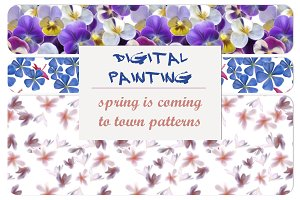 Digital Painting Spring Pattern Pack